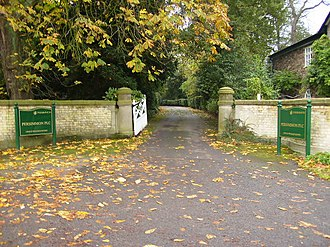 Persimmon plc - Driveway entrance to the offices of Persimmon plc in York