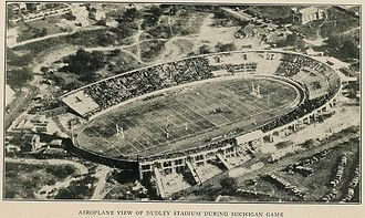 1922 Vanderbilt Commodores football team - Aerial view of Dudley Field during the game.