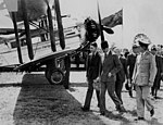 Duke of Gloucester at the launch of the regular airmail service to the United Kingdom (3190856486).jpg