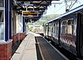 Dumbarton Central on the North Clyde and West Highland Lines. Platform 3 - View towards Glasgow.jpg