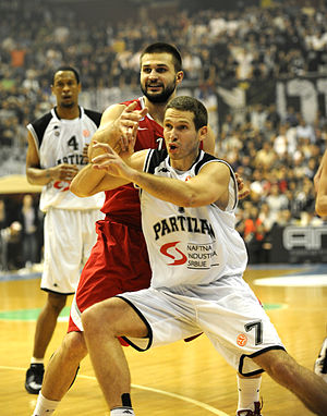 KK Partizan all-time roster - Dušan Kecman played in Partizan in one of the most beautiful periods in the history of the club. He scored a famous three-point from half-court at the buzzer against Cibona Zagreb in Adriatic League final in April 2010