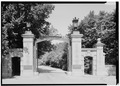 EAST GATES, SOUTH FRONT - Linden Towers Gates, Middlefield Road at James Lane, Atherton, San Mateo County, CA HABS CAL,41-ATH,1-1.tif