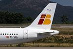 EC-LLE A320 Iberia Express tailfin VGO.jpg
