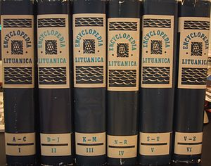 Encyclopedia Lituanica - Six volumes of Encyclopedia Lituanica