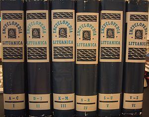 Encyclopedia Lituanica - Six volumes of Encyclopedia Lituanica