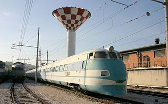 Pendolino - ETR 401 near Ancona. This was the first Pendolino EMU to enter regular service