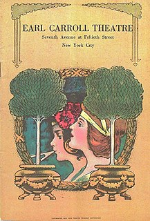 The Earl Carroll Vanities Broadway revue that Earl Carroll presented in the 1920s and early 1930s