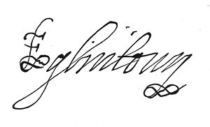 Clan Montgomery - The signature of the Earl of Eglintoun in 1642.
