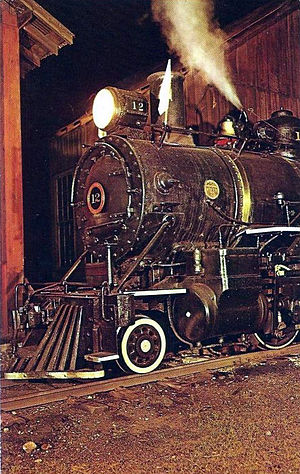 East Broad Top Railroad and Coal Company - EBT Engine 12 after the railroad was re-opened in 1960.