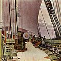 Eckersberg Korvetten Najadens styrbords batteri og dæk 1833.jpg