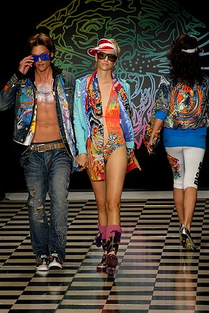 Models on the runway for Ed Hardy Fashion show...