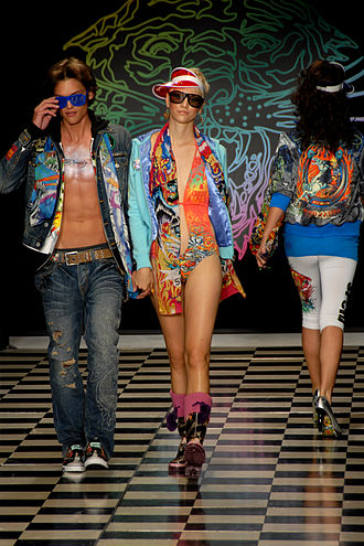 Fashion - Male and female fashion models on the runway, Los Angeles Fashion Week, 2008