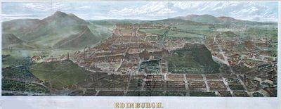 A panorama of Edinburgh published by the Illustrated London News in 1868