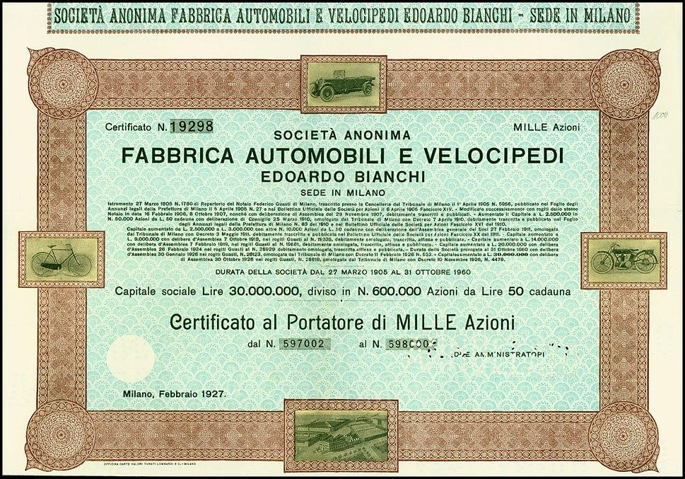 Edoardo Bianchi 1927