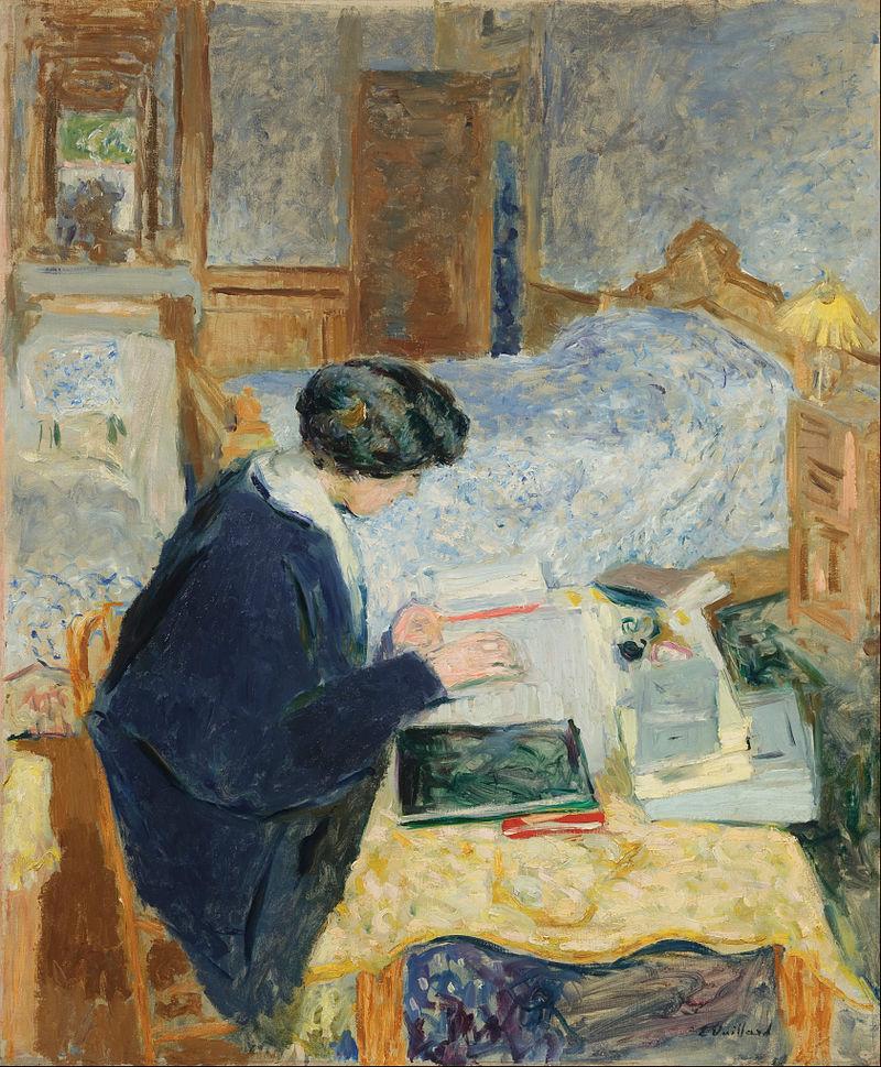 Edouard Vuillard - Lucy Hessel Reading (Lucy Hessel lisant) - Google Art Project.jpg