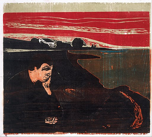 Edvard Munch - Evening. Melancholy I - Google Art Project