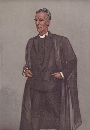 "Edward Lyttelton - ""Haileybury"" Lyttelton as caricatured by Spy (Leslie Ward) in Vanity Fair, May 1901"