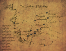A map showing locations of key character's homes and important events
