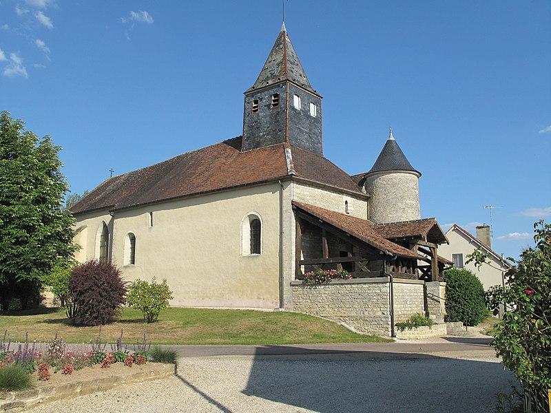 The church of la Rothière (Aube, France).