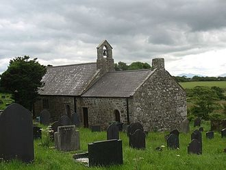St Cwyllog's Church, Llangwyllog - Image: Eglwys Cwyllog Sant from the north west
