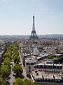 Eiffel Tower from the Arc de Triomphe, 2 August 2015 001.jpg