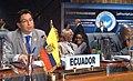 El Canciller Falconí interviene en el debate general de la XV Cumbre del Movimiento de Países No Alineados, destacando la importancia del grupo para el sistema multilateral. (3727627346).jpg