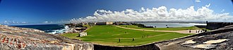 Castillo San Felipe del Morro - Panorama view of the city from the castle