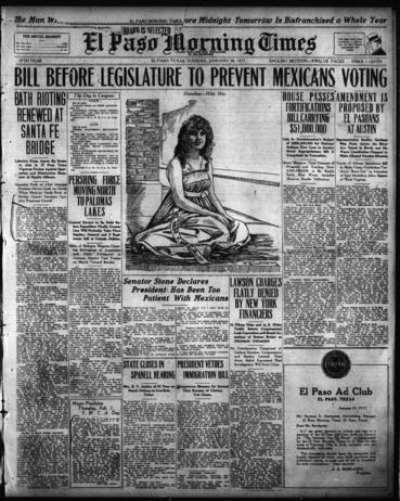 El Paso Morning Times, El Paso, Texas, January 30, 1917