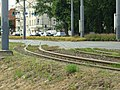 Elbląg, Aleja Grunwaldzka, tramvajová trať.JPG