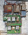 Electricity distribution board in disused boiler house on Abbotts Farm, Canada - geograph.org.uk - 732622.jpg