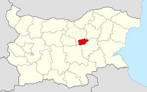Elena Municipality - Image: Elena Municipality Within Bulgaria