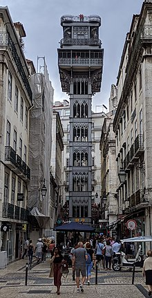 Santa Justa Lift - Wikipedia on alto do pina lisbon, portugal lisbon, santos-o-velho lisbon, prazeres lisbon, campo grande lisbon, castelo lisbon, alvalade lisbon,