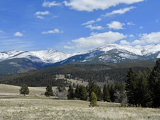 Elkhorn Mountains - West side of the Elkhorns as viewed from Jefferson County, Montana