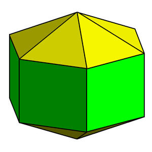 Octadecahedron - Image: Elongated hexagonal dipyramid