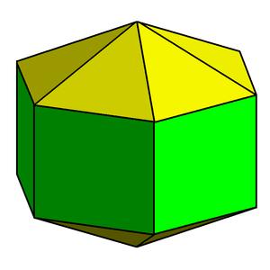 Octadecahedron - Image: Elongated hexagonal dipyramid