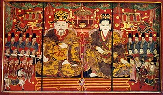 Revival Lê dynasty - Image: Emperor Ly Nam De and the Empress (SDK 6376)