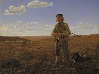 Frederik Vermehren - Frederik Vermehren, Fårehyrde på heden (Shepherd on the Heath), 1855, Statens Museum for Kunst
