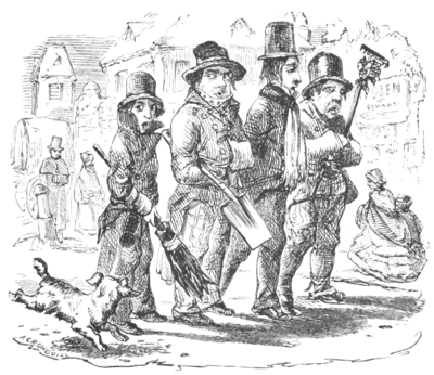 English Caricaturists, 1893 - Frozen Out Gardeners.png