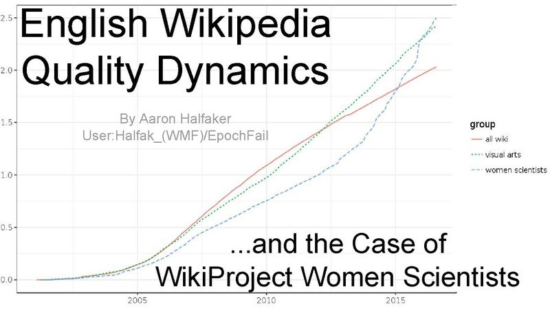 File:English Wikipedia Quality Dynamics (Women Scientists & Visual Arts) -- Research Showcase (December 2016).pdf