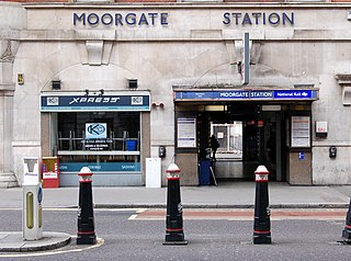 Moorgate station London Underground and railway station