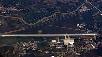 Erzincan Airport - Aerial photo of the airport in 2016.