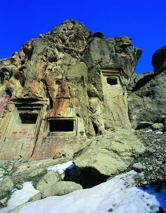 Harsin - Eshaqvand rock tombs
