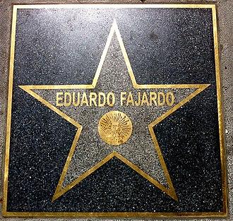 Almeria Walk of Fame - Eduardo Fajardo's star.