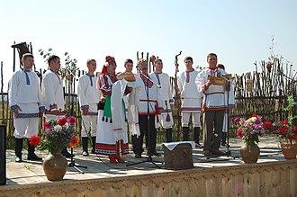 Mordvins - An Erzya ritual performance in Podlesnaya Tavla, Mordovia.