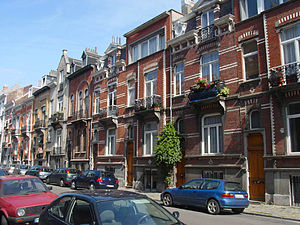"Etterbeek - A typical Etterbeek street – ""Rue des Boers/Boerenstraat"""