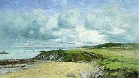 Rivage de Pontrieux, Cotes-du-Nord. (1874)