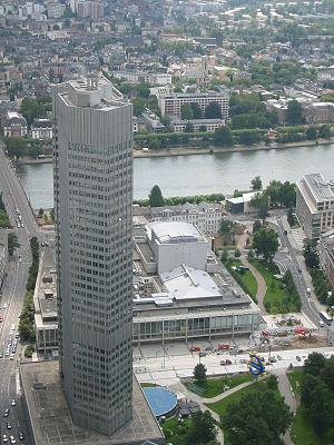 European Central Bank from up.