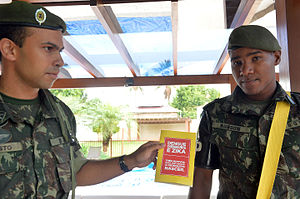"""Concerns and controversies at the 2016 Summer Olympics - The Brazilian Army has sent more than 200,000 troops to go """"house to house"""" in the campaign against Zika-carrying mosquitoes."""