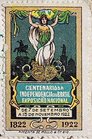 Independence Centenary International Exposition - Commemorative Brazilian stamp