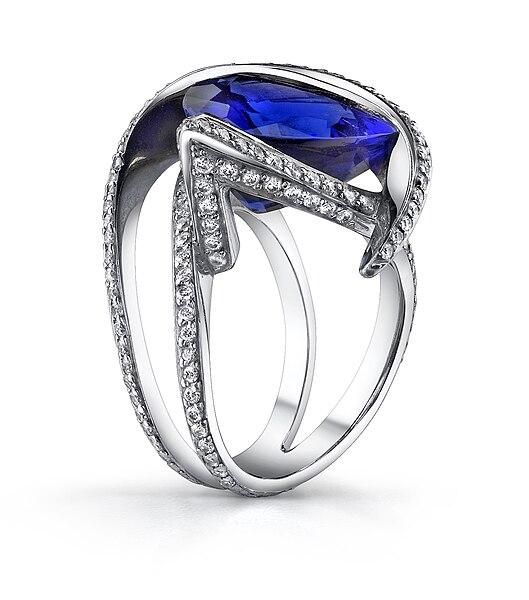 File:Exquisite Tanzanite Ring by Mark Schneider.jpg